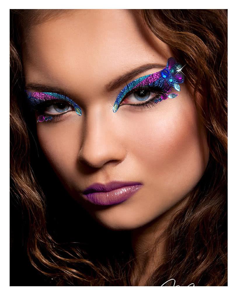 xotic eyes orient blue purple exotic eyes makeup for carnival horror. Black Bedroom Furniture Sets. Home Design Ideas