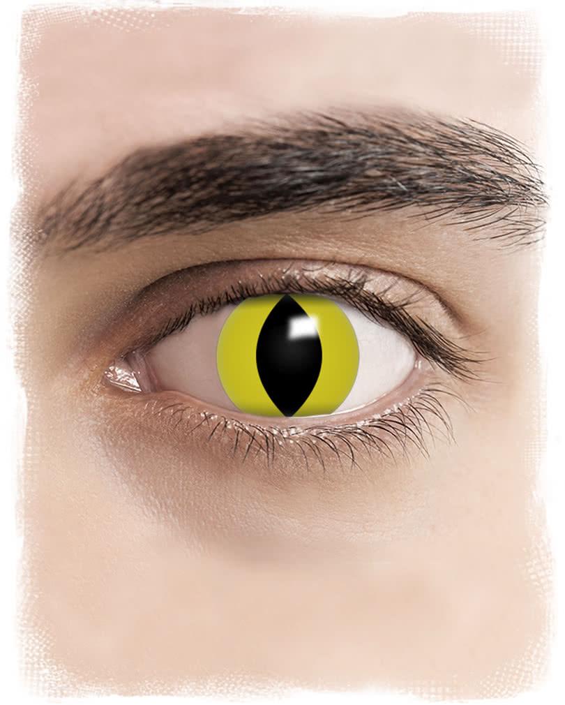 kontaktlinsen gelbe katzenaugen motiv farbige linsen. Black Bedroom Furniture Sets. Home Design Ideas