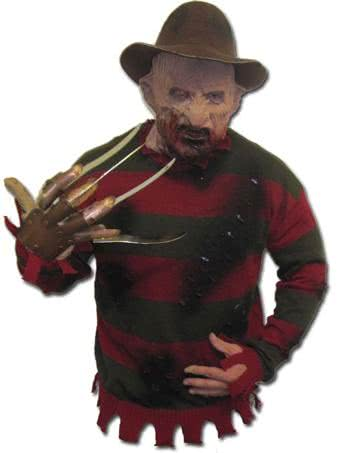 freddy krueger pullover deluxe original freddy krueger sweater from the usa horror shopcom - Freddy Krueger Halloween Decorations