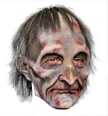 zombie grandpa mask premium - Premium Halloween Masks