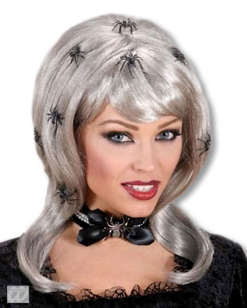 spider lady wig silver blonde wig horror shopcom - Spider Witch Halloween Costume