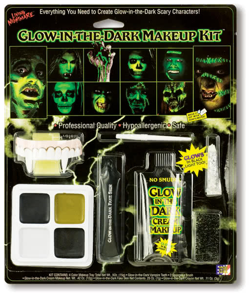 Glow in the Dark Makeup Kit -Glow in the Dark Make Up-UV Makeup ...