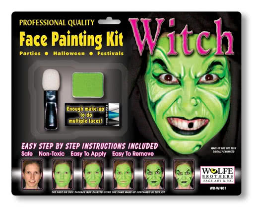 Witch Makeup Complete Set For Halloween | horror-shop.com