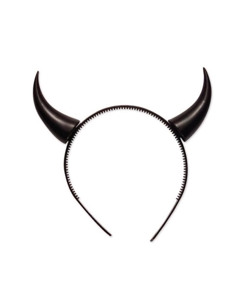 small devil horns black - Devil Horns For Halloween