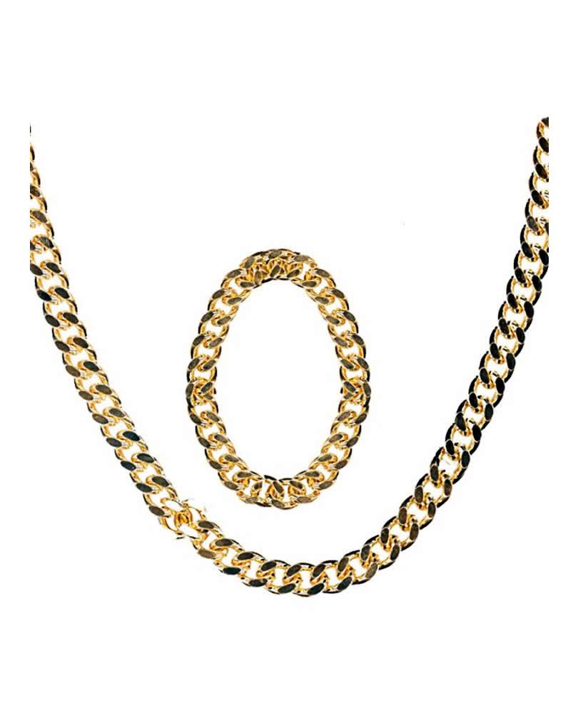 Goldkette gangster damen  Rapper Goldkette und Armband | Goldene Gangster Rapper Kette ...