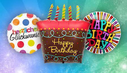 Folienballon Geburtstag