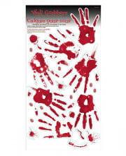 bloody handprints footprints wall decoration
