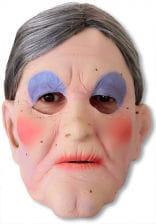 opa maske mit haarkranz grossvater maske alter mann maske horror. Black Bedroom Furniture Sets. Home Design Ideas