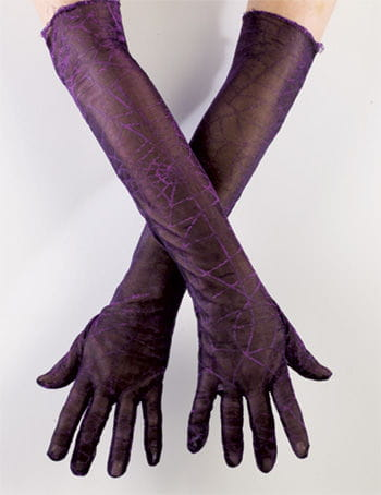 Cobwebs glove purple