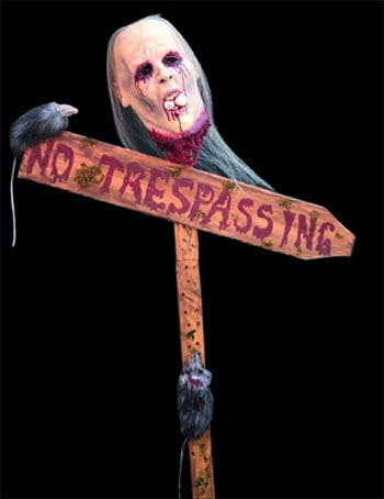 No Trespassing Sign Post