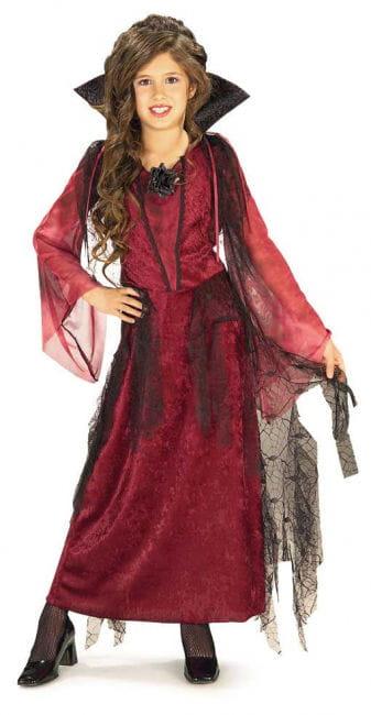 Gothic Vampirlady Kinder Kostüm Large