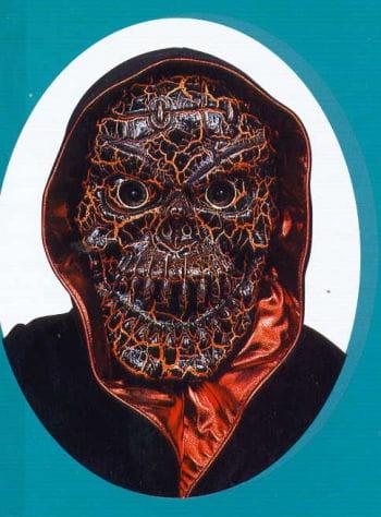 Crackled Skull Mask Orange
