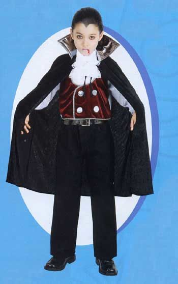 Count Dracula Child Costume 7-8 Years
