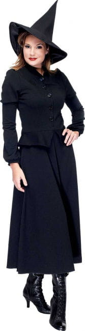 Elegant Witch Costume Black Size M/L