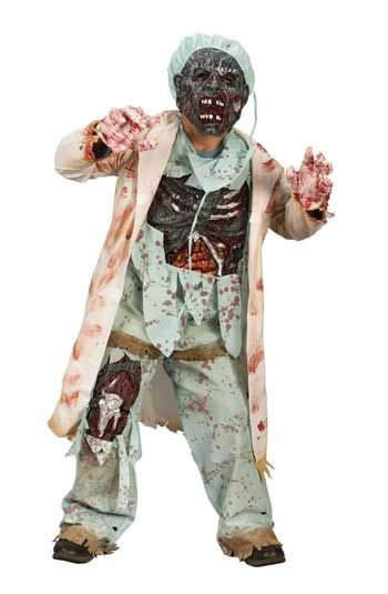 Zombie Doctor Deluxe Child Costume Size S