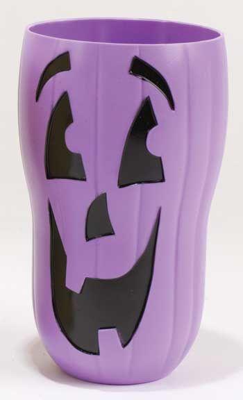 Halloween pumpkin cups Purple