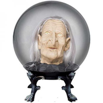 Crystal Ball with Witch Head Big