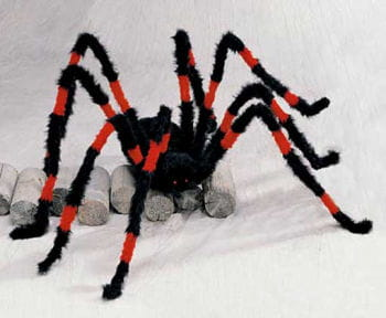 Giant Monster Spider Black and Red 140cm