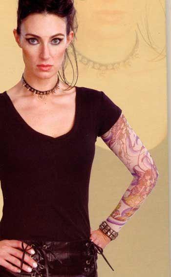 Tattoo Ärmel Girl Motiv Feenzauber