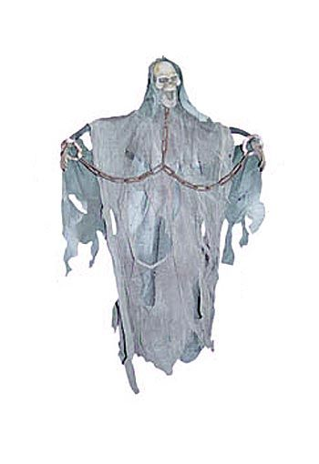 Scary Chain Ghost Hanging Prop 45cm