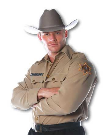 Sheriff Shirt Costume Size L