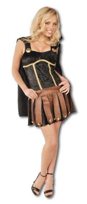 Sexy Gladiatorin Kostüm schwarz Gr. L / 40