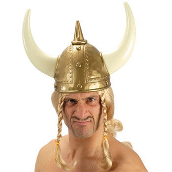 Golden Viking Helmet