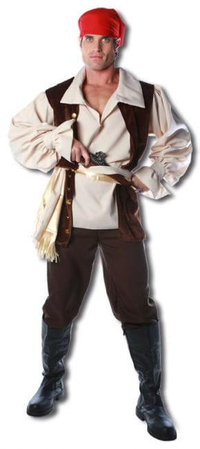 Caribbean pirate Premium Costume One Size
