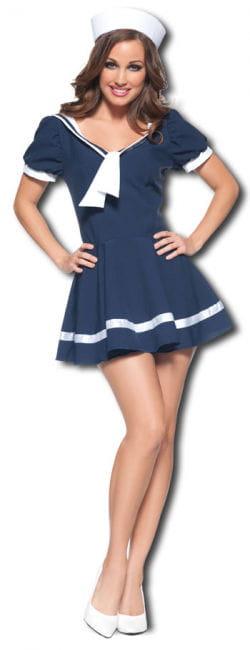 Kokette Matrosin Premium Kostüm Small