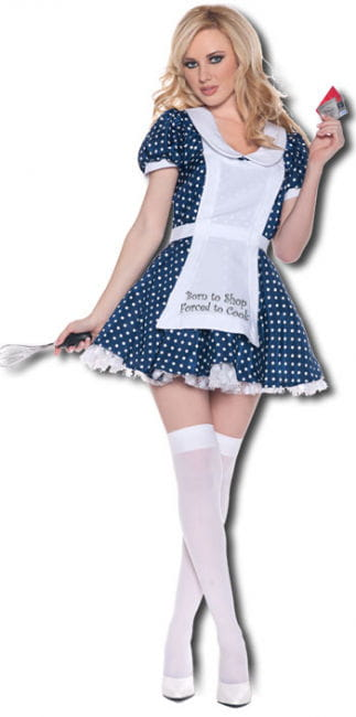 Sexy Hausfrau Premium Kostüm Gr. M