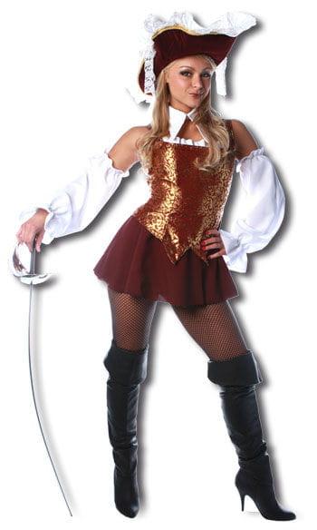 Sexy Musketier Premium Kostüm Burgunder Gr. M