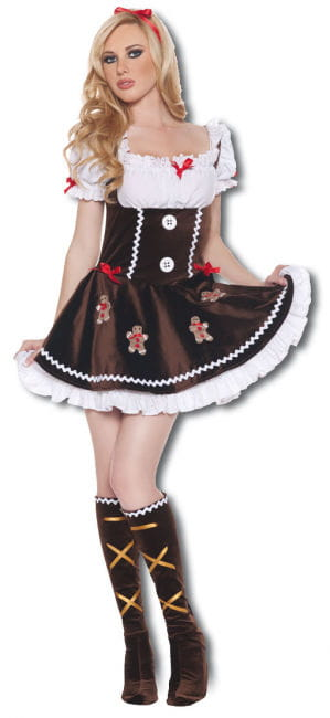 Delicate gingerbread woman Premium Costume Large
