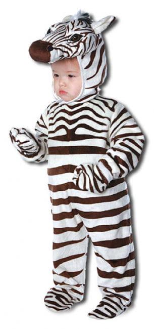 Fröhliches Zebra Kinderkostüm Large