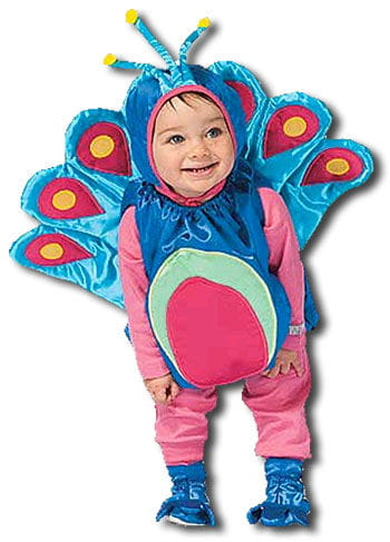 Glamorous Peacock Child Costume Size. M