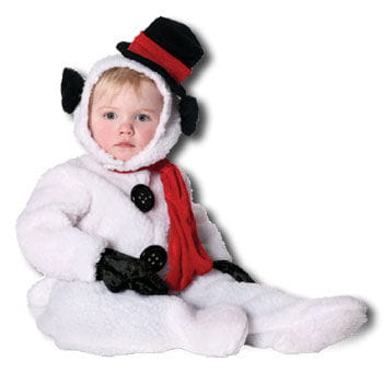 Fluffy Snowman Kids Costume. L