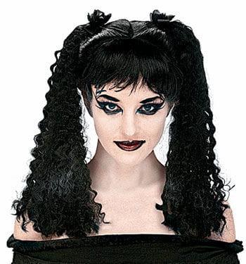 Curled Black Children's Wig