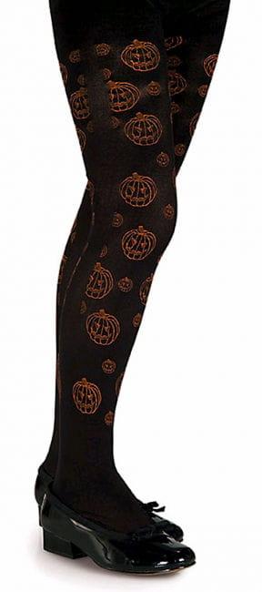 Children`s tights with pumpkin motif