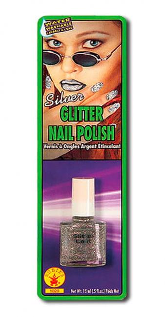 Glitter nail polish silver
