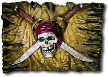 Wandschild Piratenflagge