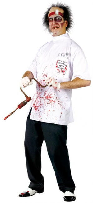 dr killer driller teenage costume doctor costume for teens horror. Black Bedroom Furniture Sets. Home Design Ideas