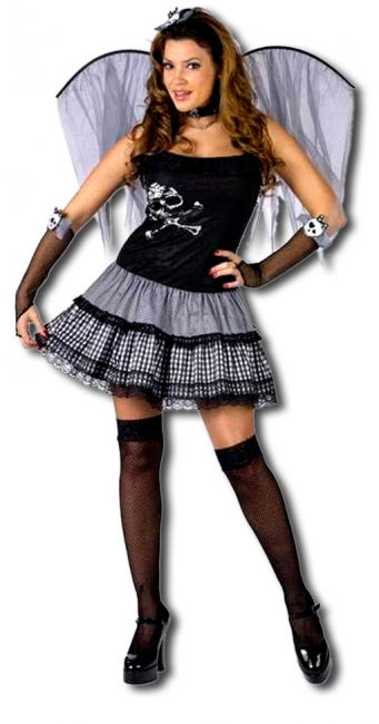 Funky Punk Fee Kostüm Medium Large