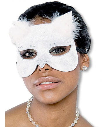 Glamour Cat Mask together white