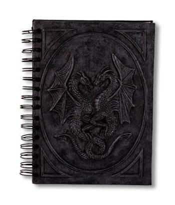 Notizbuch mit Drachenmotiv