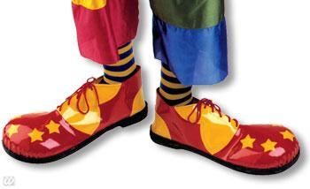 Clown Shoes Yellow and Red with Stars
