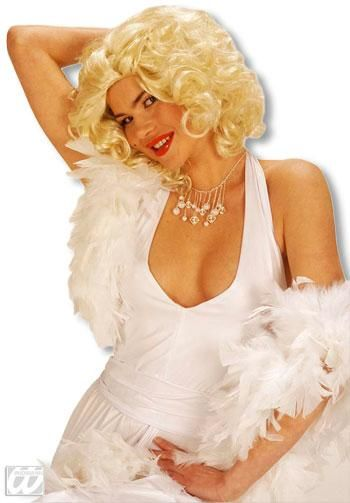 White feather boa in show quality