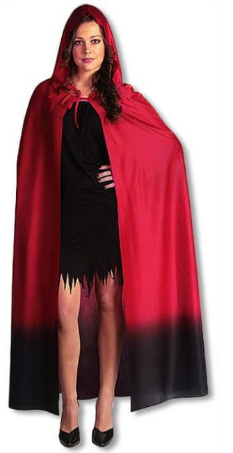 Demonic Fire Princess Cape Red