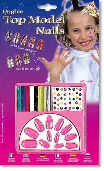 Kinder Design Nägel Pink