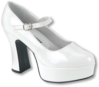 Mary Janes Pumps White Gr. 38