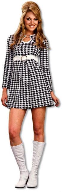 60er Jahre Mod Kleid kariert