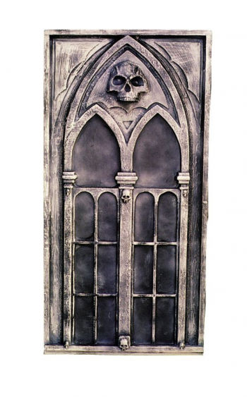 gothic deko window halloween scenes construction. Black Bedroom Furniture Sets. Home Design Ideas